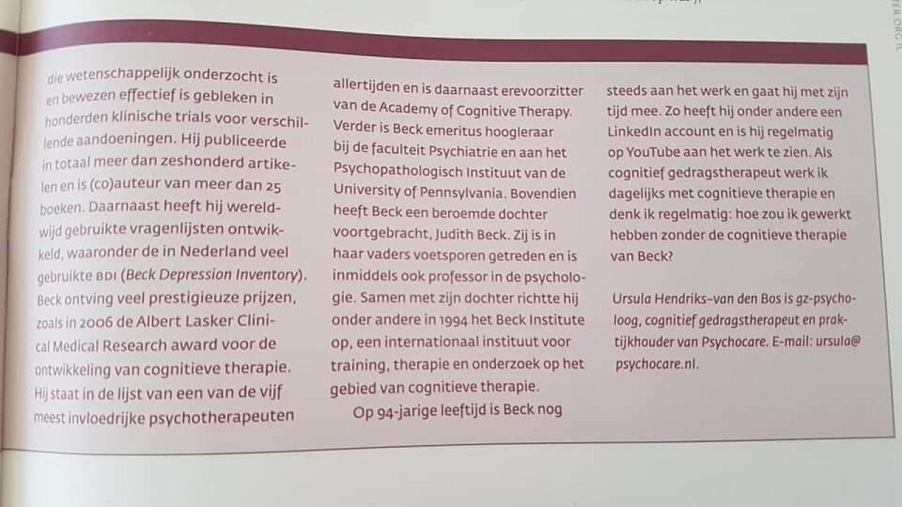 Psychocare - NIP Publicatie 2015 2