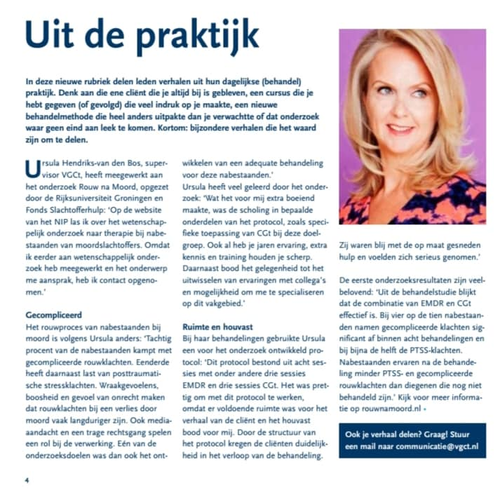 Psychocare - VGCT interview - Rouw na moord